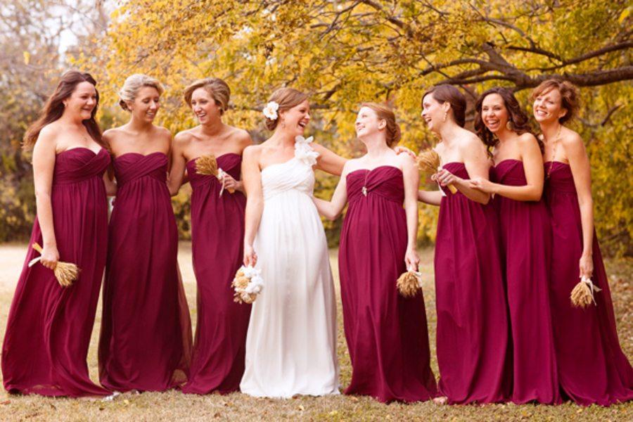 Fall Bridesmaid Dresses Yuman Dakren