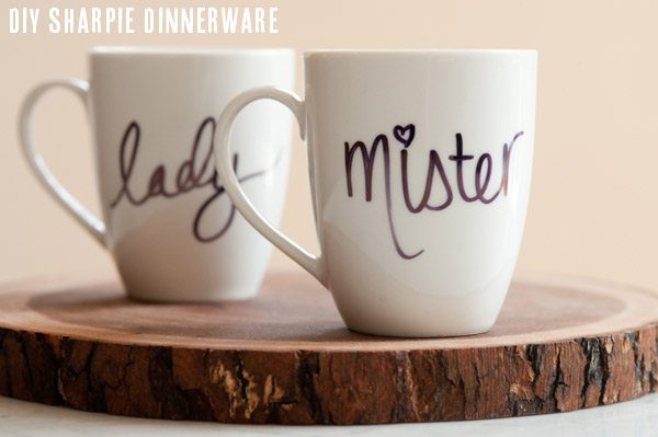 DIY Sharpie mugs from The Sweetest Occasion