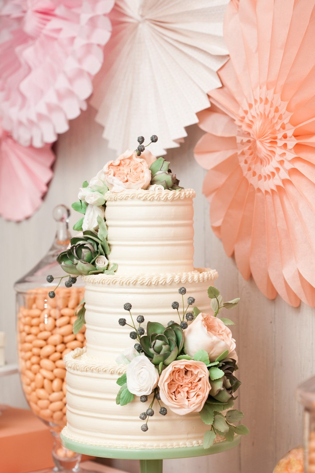 wedding cake floral brunch with minted the sweetest occasion 22663